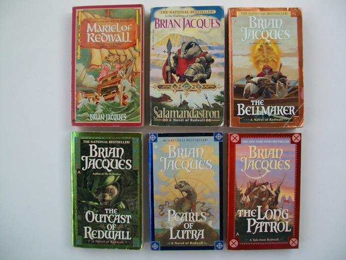 Alcuni libri della serie Redwall