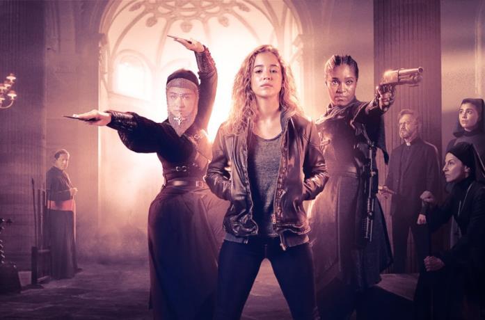 Il cast di Warrior Nun