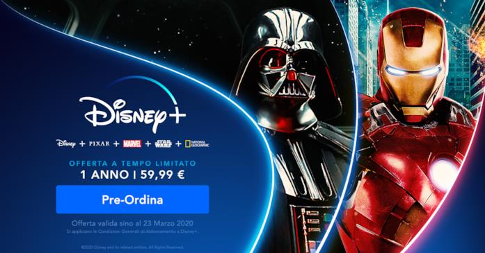 L'offerta a tempo limitato per il pre-lancio di Disney+
