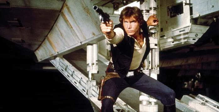Han Solo in una scena di Star Wars