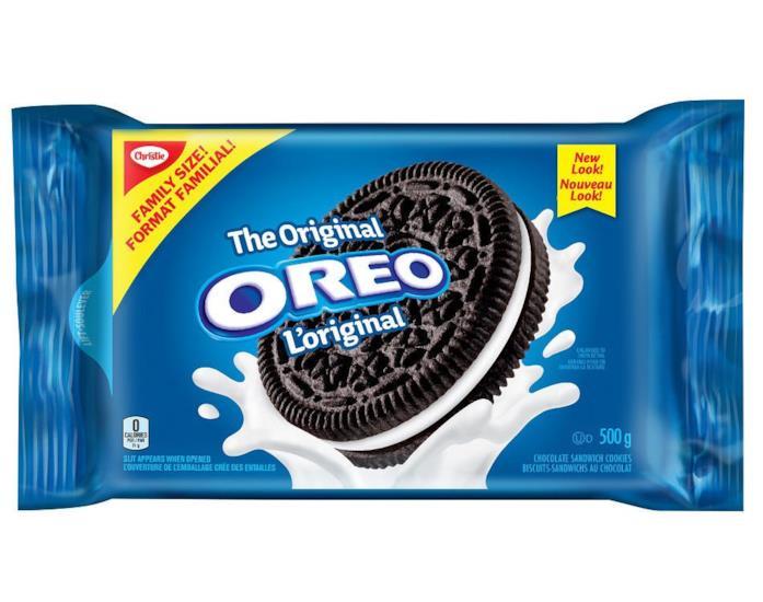 Packaging dei biscotti Oreo