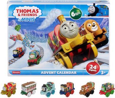 Il calendario dell'avvento con 24 mini trenini giocattolo