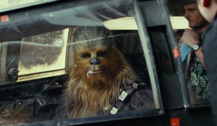 Chewbacca in un'immagine da Star Wars: Gli Ultimi Jedi
