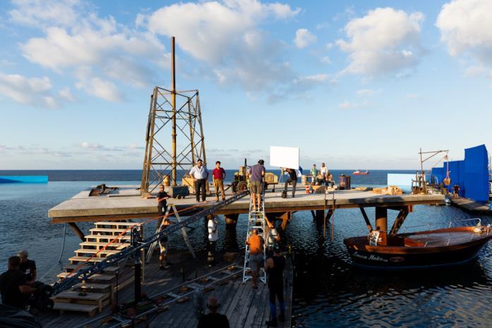 Il set della piattaforma dell'Isola delle Rose