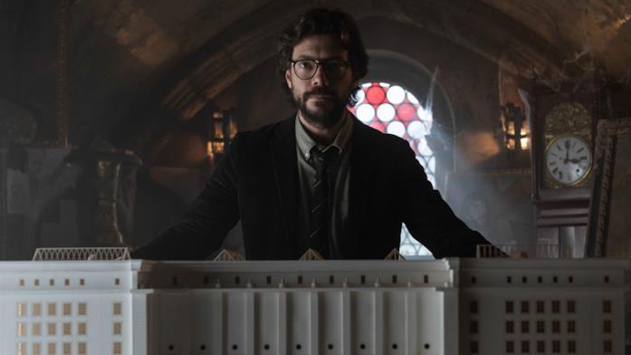 ll Professore in una scena de La Casa di Carta