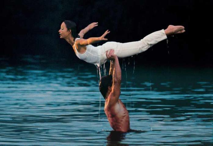 Una delle scene più famose di Dirty Dancing - Balli proibiti