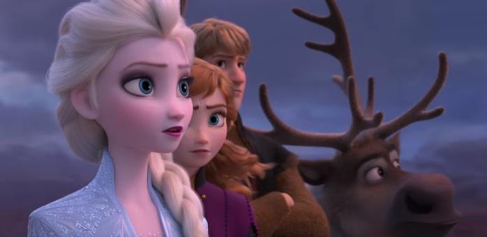 Un'immagine tratta dal film Frozen 2 - Il regno di Arendelle
