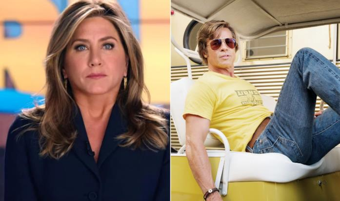 Un collage tra le interpretazioni di Jennifer Aniston e Brad Pitt
