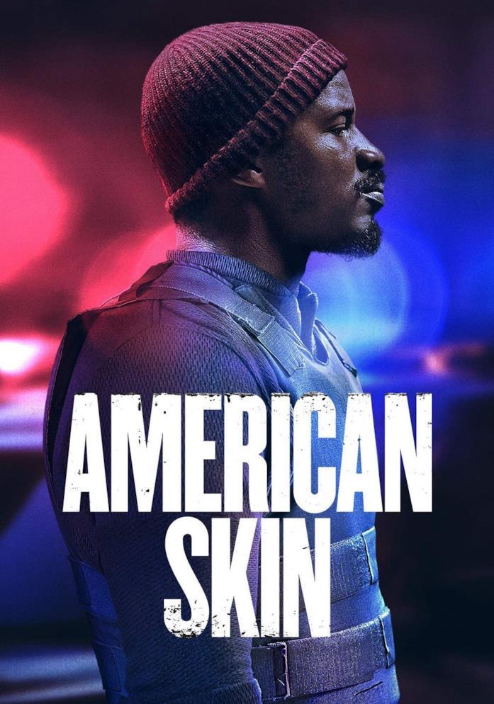 Nate Parker nella locandina di American Skin