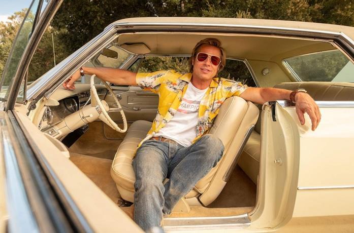 Brad Pitt nel film C'era una volta a... Hollywood