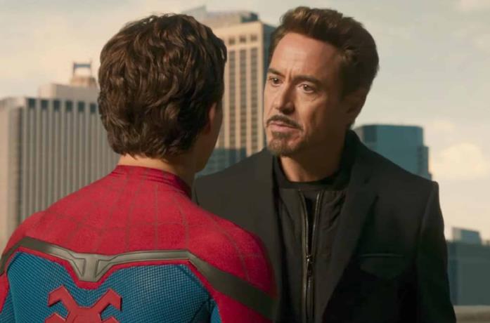 Un'immagine di Spider-Man e Tony Stark
