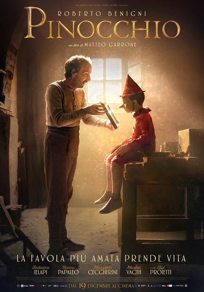 La locandina di Pinocchio di Matteo Garrone