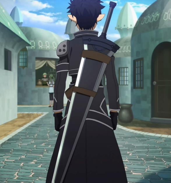 Kirito equipaggia la lunga arma
