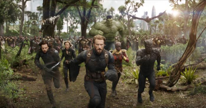 Un'immagine della battaglia nel Wakanda presa dal trailer di Avengers: Infinity War