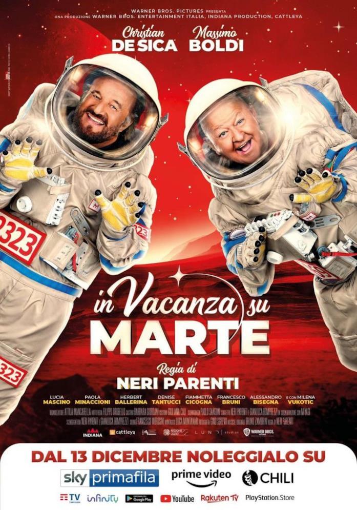 Boldi e De Sica vestiti da astronauti