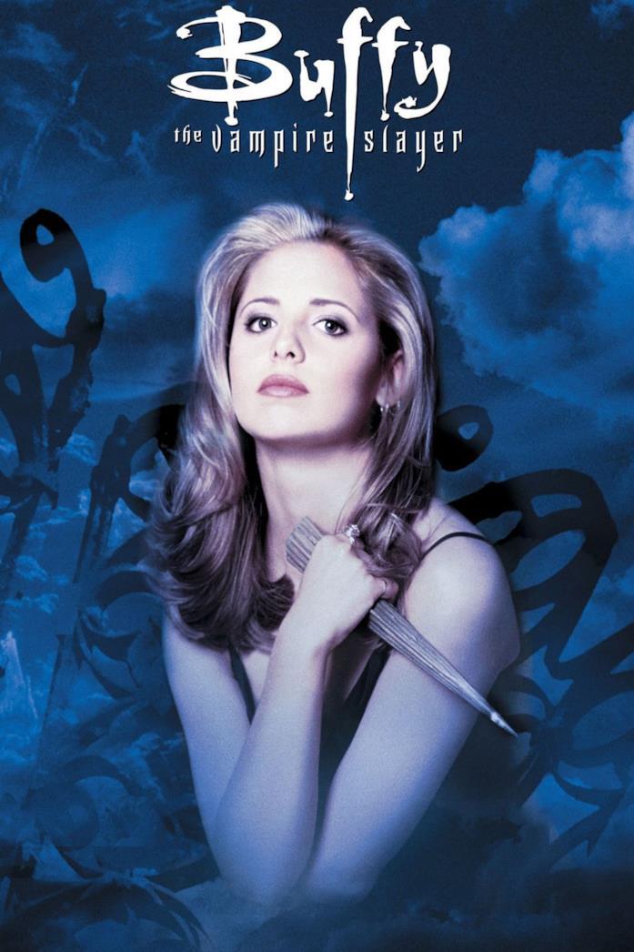 Sarah Michelle Gellar nella locandina di Buffy