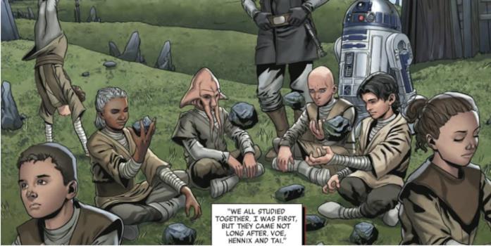 Una tavola del fumetto The Rise of Kylo Ren