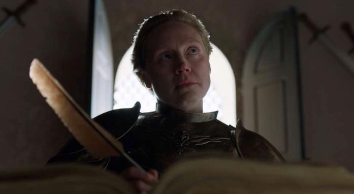 Gwendoline Christie nella finale di Game of Thrones
