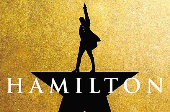 Il protagonista di Hamilton in nero su sfondo dorato