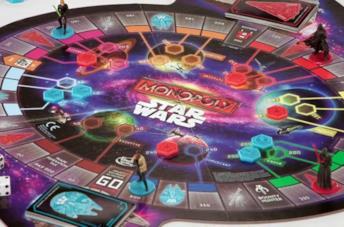 Il tabellone di gioco di Monopoly Star Wars