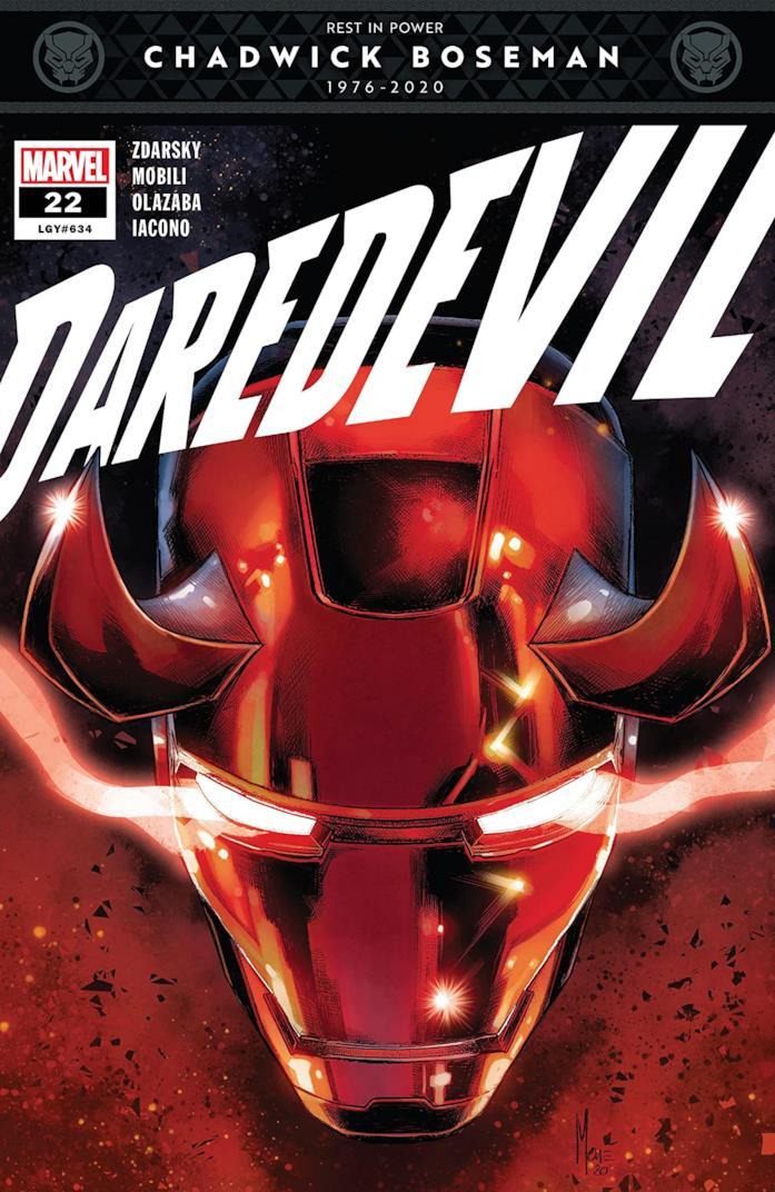 La cover di Daredevil con la fascetta che omaggia Boseman
