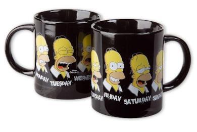 Simpsons mug Daily Homer