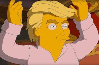 Donald Trump, apparso spesso nelle puntate dei Simpson