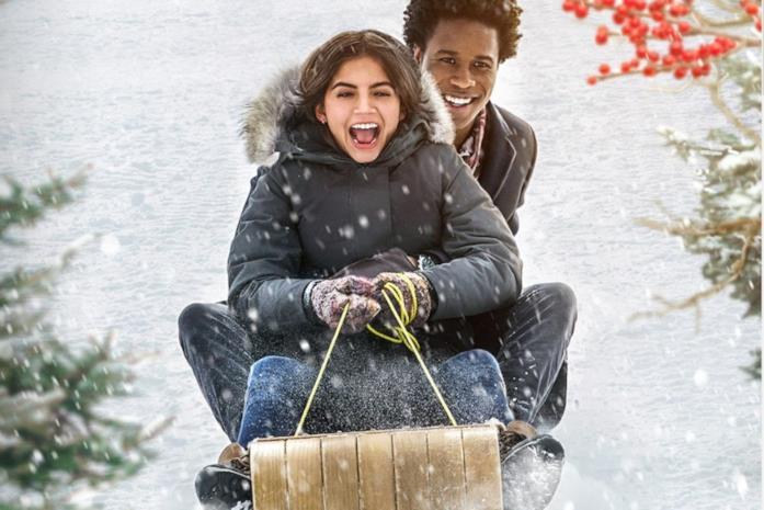 Una scena di Let it snow