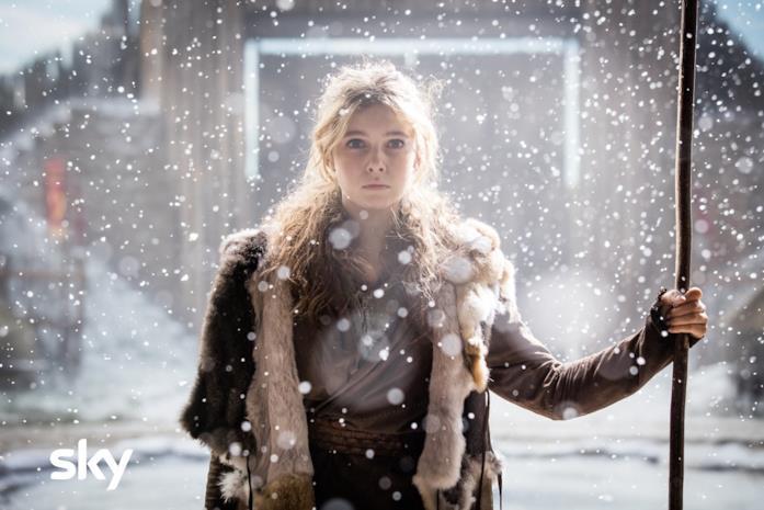 Eleanor Worthington Cox in una scena di Britannia 2