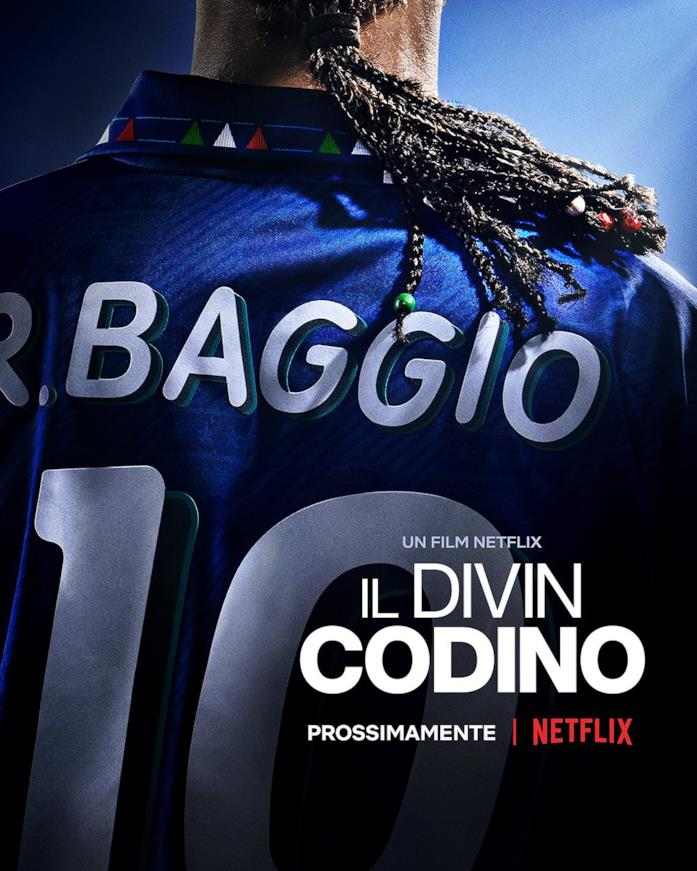 Il poster de Il Divin Codino, prossimamente su Netflix