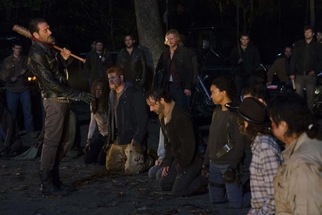 Uno scatto del finale di stagione di The Walking Dead 6