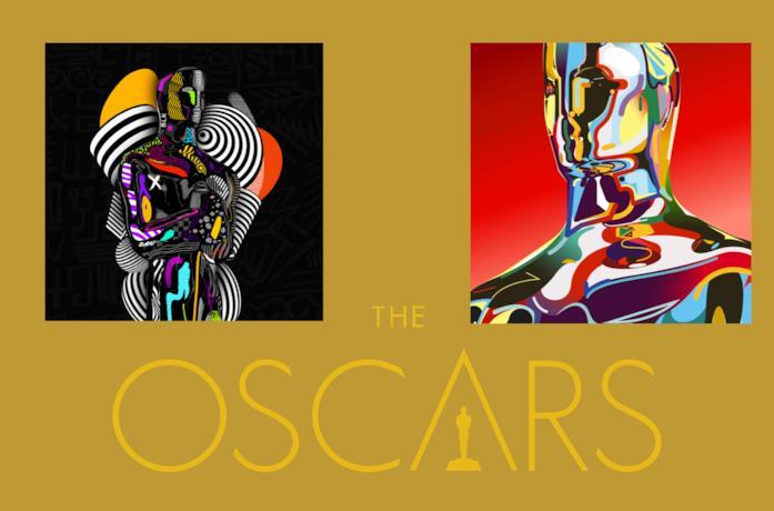 Le illustrazioni per l'edizione2021 degli Oscar