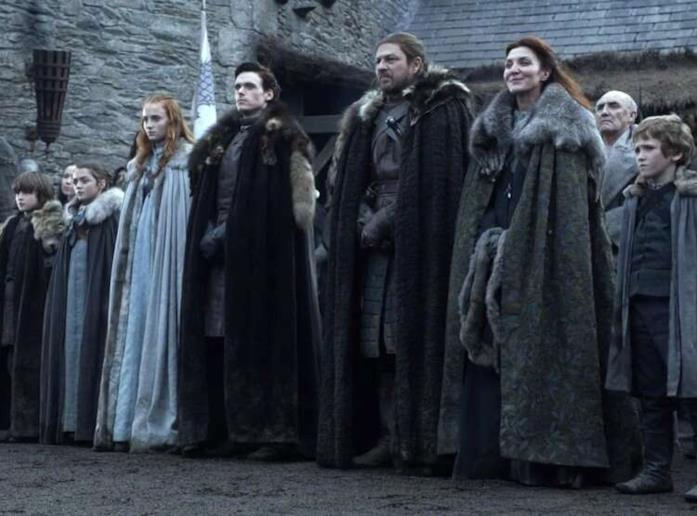 Gli Stark a Grande Inverno nell'episodio pilota di Game of Thrones