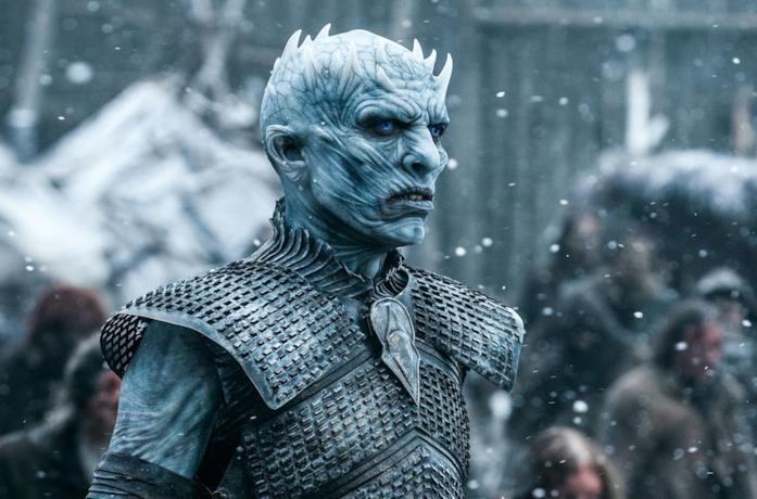 Il Night KIng nella serie Game of Thrones