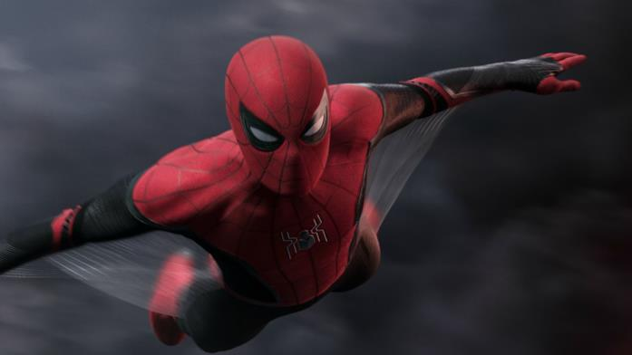 Spider-Man (Tom Holland) in una scena di Spider-Man: Far From Home