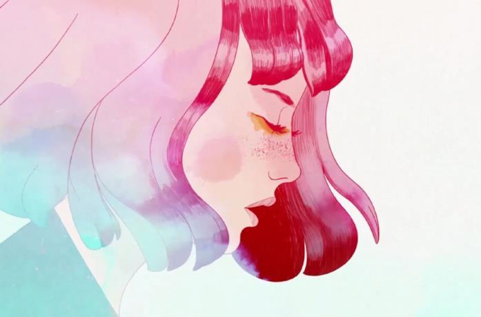 Il profilo della protagonista di GRIS