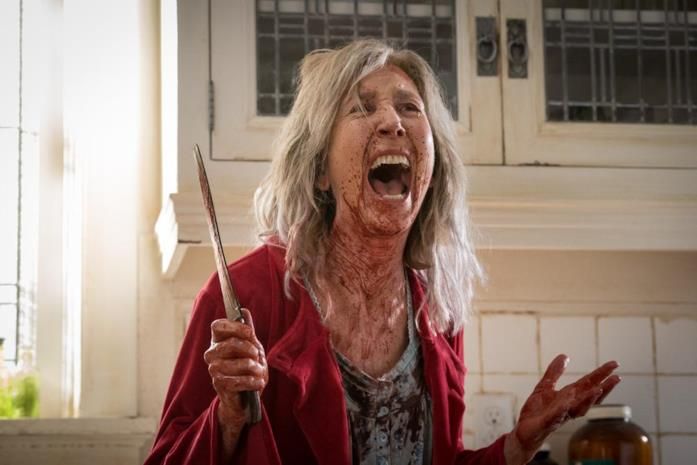 Lin Shayne in una scena del film The Grudge