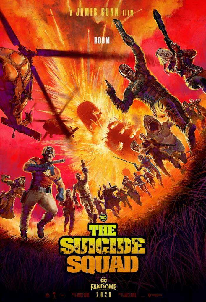 La Suicide Squad fugge da un'imponente esplosione