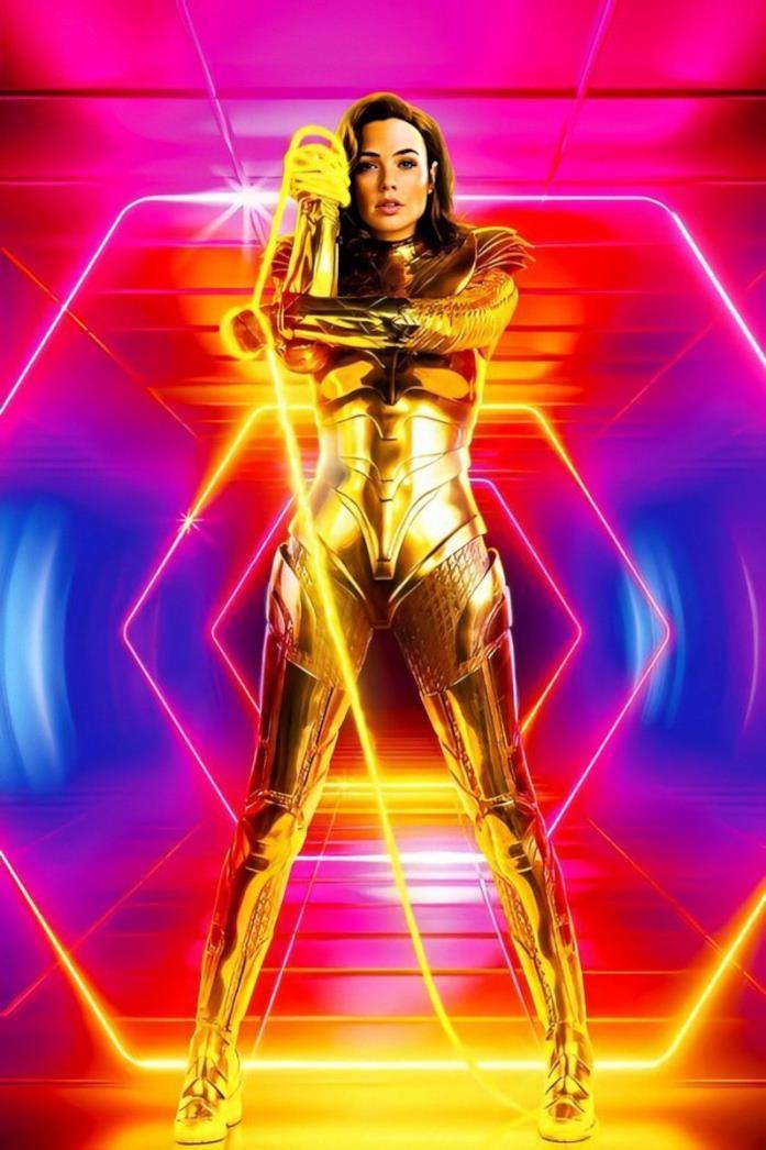 Wonder Woman in armatura dorata
