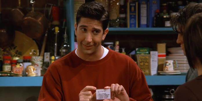 Ross in una scena di Friends