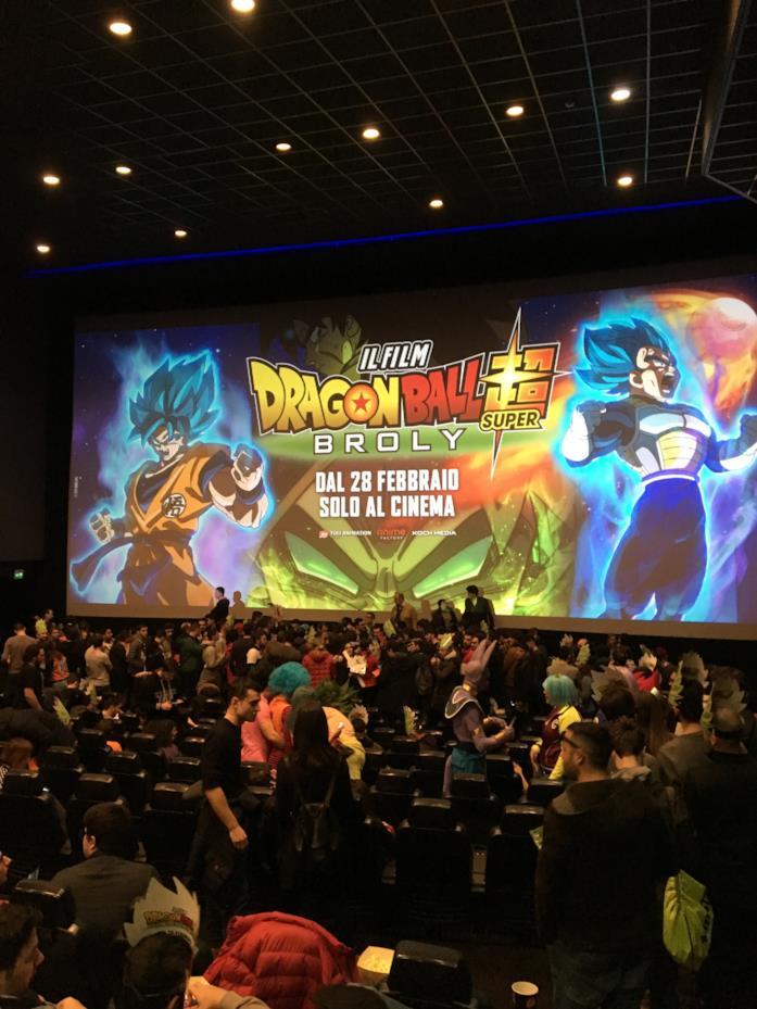 Dragon Ball Super: Broly - anteprima cinema di Roma