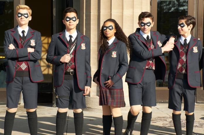 I protagonisti della serie The Umbrella Academy da bambini
