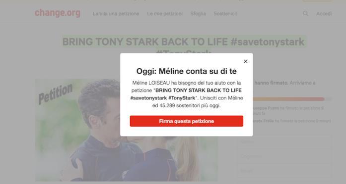 Méline conta su di te per riportare in vita Tony Stark!