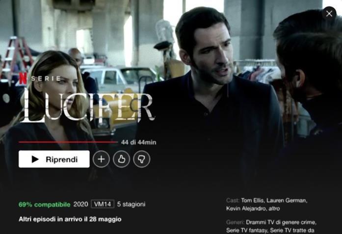 Netflix ci svela quando arriveranno i nuovi episodi di Lucifer