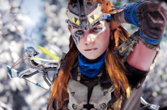 Aloy in Horizon Zero Dawn su PS4