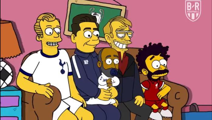 Alcuni celebri giocatori di calcio in un omaggio dei Simpson alla Champions League