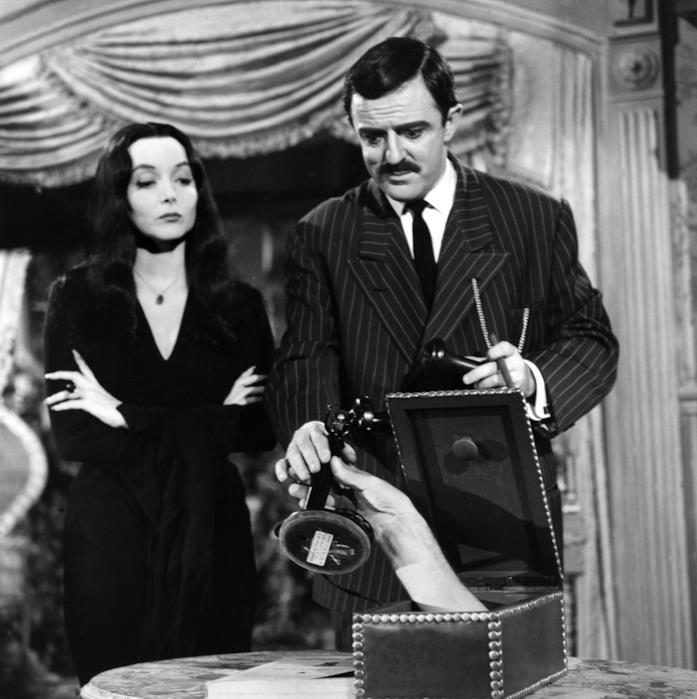 Gomez e Morticia Addams dalla serie TV in bianco e nero