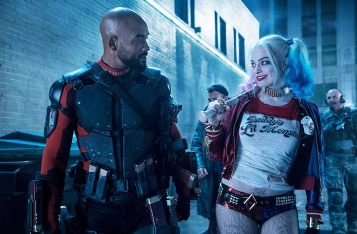Will Smith e Margot Robbie in Suicide Squad