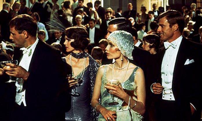 Una scena del party ne Il Grande Gatsby 1974