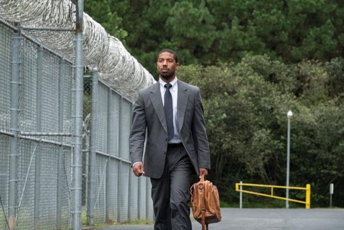 Michael B. Jordan nel film Il diritto di opporsi